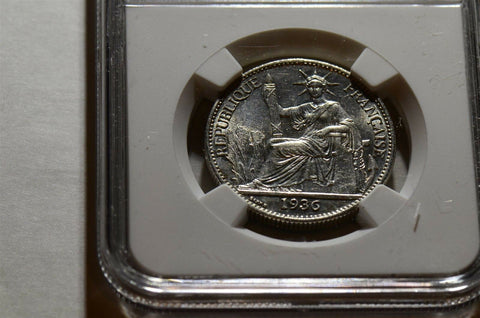 1936 French Indo China 50 cents NGC MS 61 NG0053 combine shipping