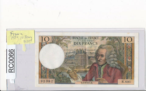 RC0066 France 1970  10 Francs  #147 crisp paper combine shipping