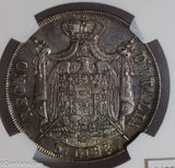 Italy 1807 M 5 Lire silver NGC MS61 kingdom of napoleon, full luster! NG0797 com