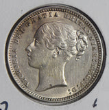 Great Britain 1874 Shilling silver  GR0274 combine shipping