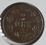 Sweden 1864 2 Ore  S0250 combine shipping