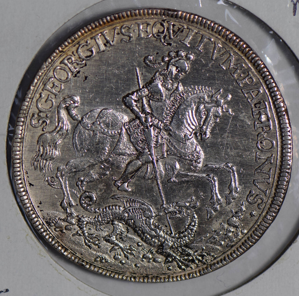 German States  Medal silver Mansfield Bornstedt George slaying dragon BU0367 com