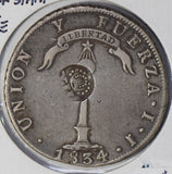 Philippines 1834 C/S over chile peso silver  BU0435 combine shipping