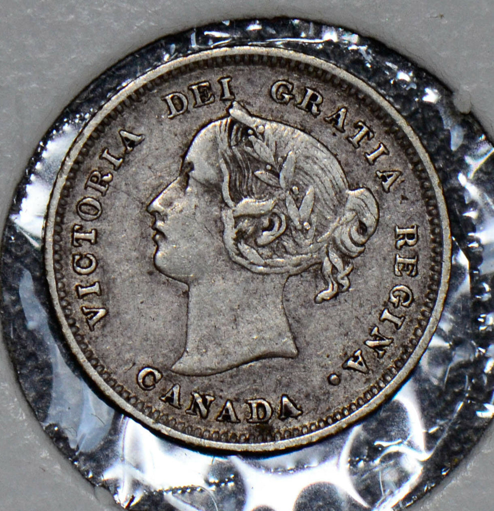 Canada 1891 5 Cents silver  CA0199 combine shipping