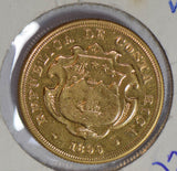 Costa Rica 1899 20 Colones gold  GL0093 combine shipping