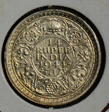 British India 1944 1/4 Rupee silver  I0223 combine shipping