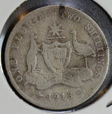 AU0072 Australia 1913 Florin silver 2 shillings key date combine shipping