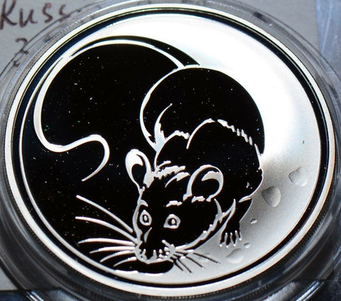 R0006 Russia 2008  3 Roubles  lunar year rat mintage 10,000 ruble combine shippi