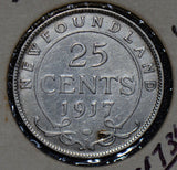Canada 1917 25 Cents silver new foundland 190185 combine shipping