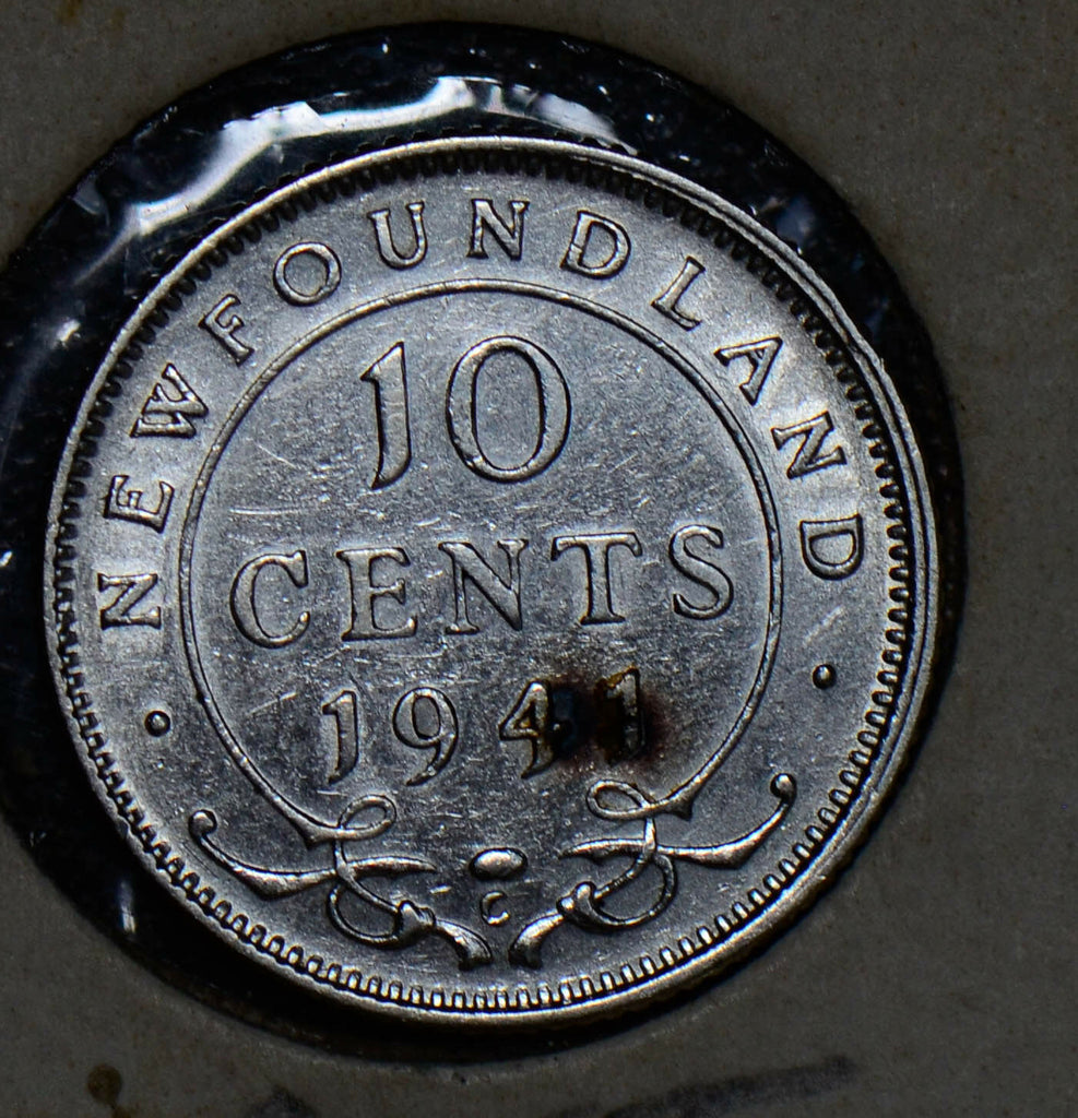 Canada 1941 10 Cents silver new foundland 190182 combine shipping