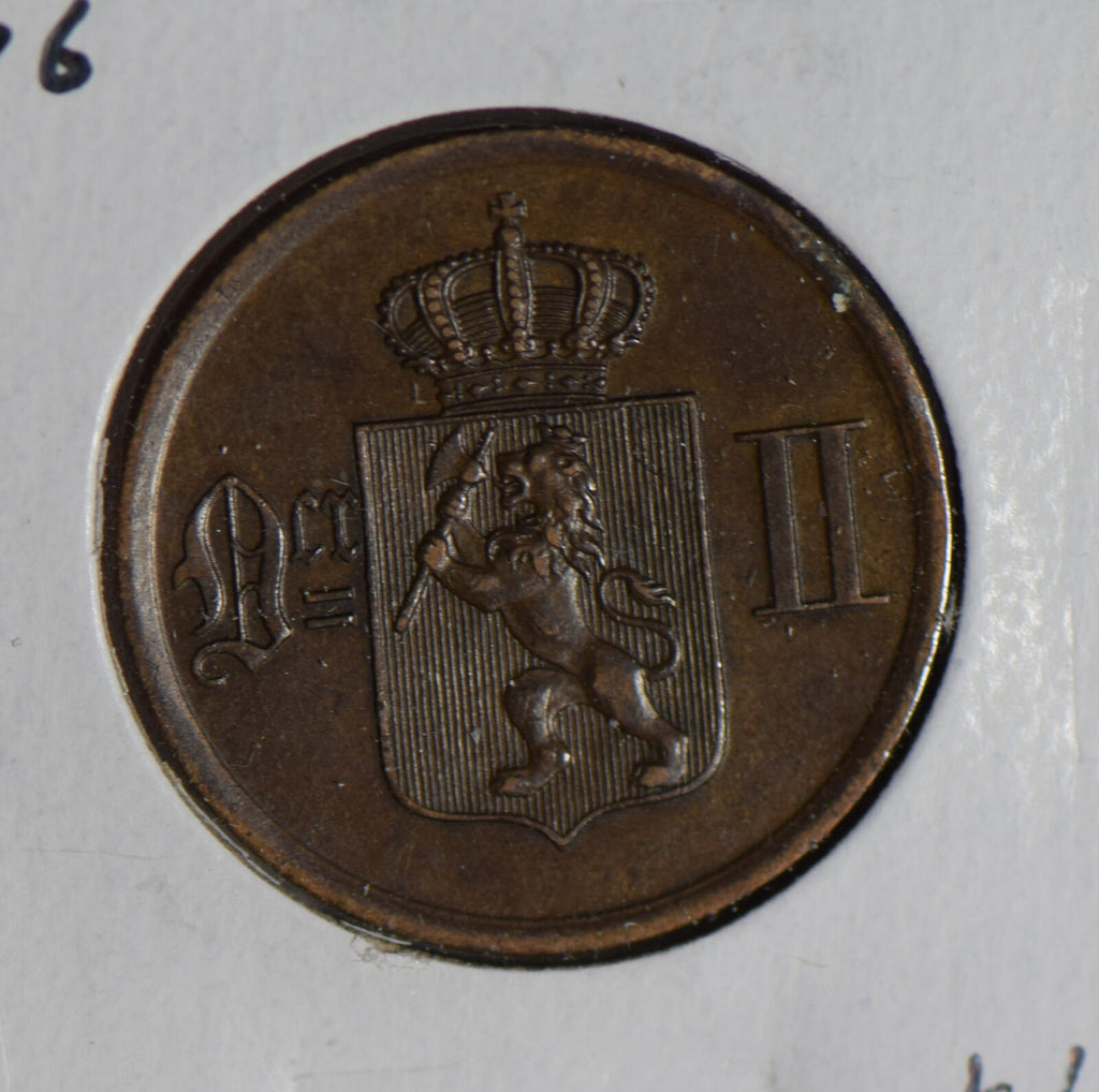 Norway 1876 2 Ore  N0192 combine shipping