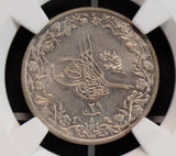 NG0611 Egypt AH1293 //29 5/10Qirsh NGC MS62 rare in this grade combine shipping