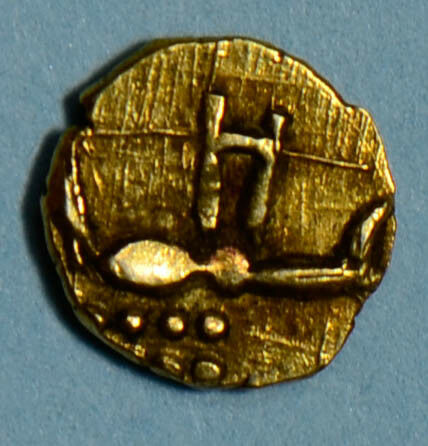 India Independent Kingdoms 1700 ~1900 fanam gold bug  I0260 combine shipping