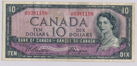 RC0162 Canada 1954 $10  beattie-coyne devil's face combine shipping