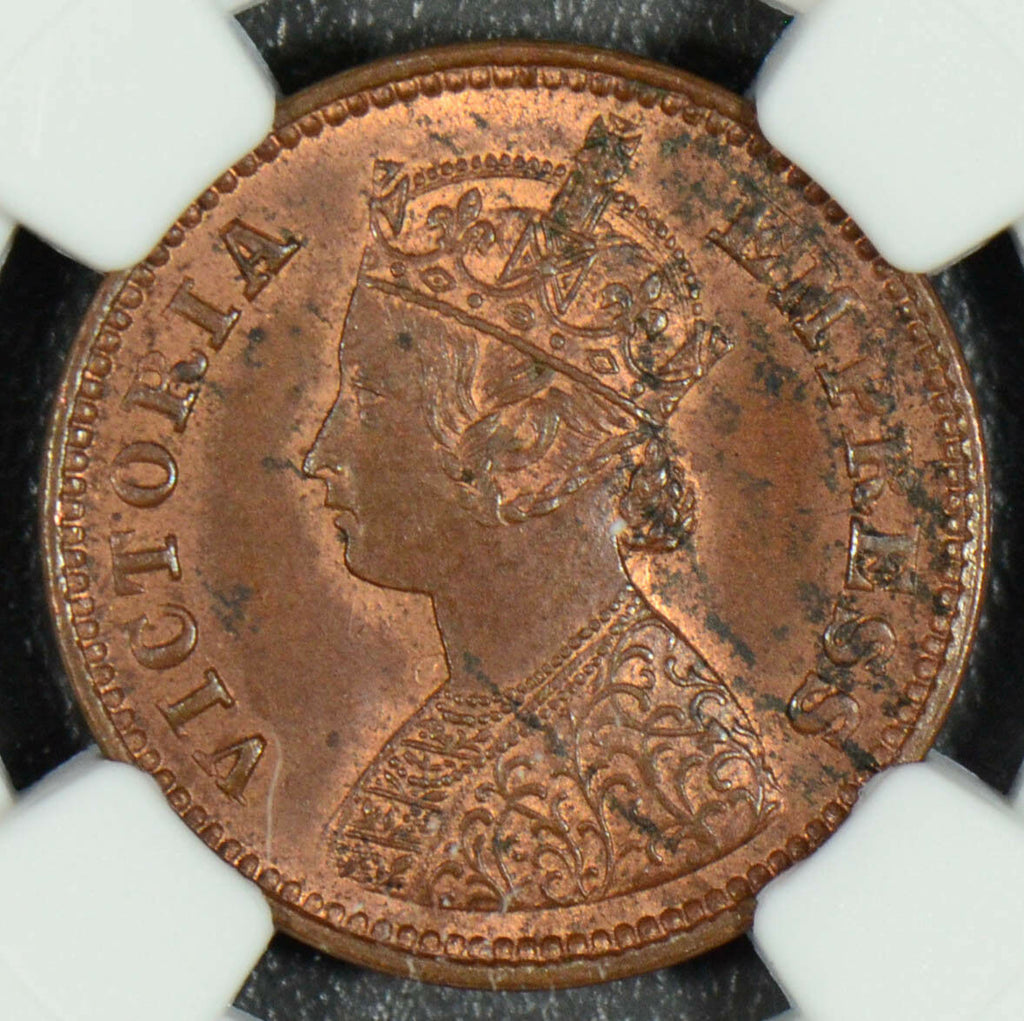 British India 1898 C 1/2 Pice NGC MS62 BN NG0248 combine shipping