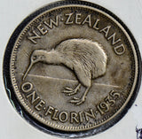New Zealand 1935 Florin silver  N0102 combine shipping