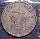 French Indo China 1946  Piastre  reeeded edge F0074 combine shipping