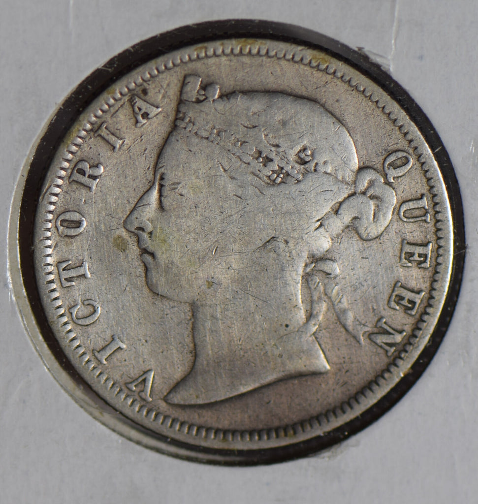 Straits Settlements 1888 20 Cents silver cleaned S0248 combine shipping