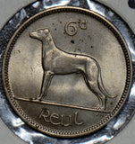 Ireland 1949 6 Pence greyhound animal  I0291 combine shipping