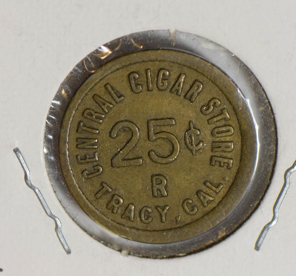 1900 ~90 tracy CA. central cigar store Token U0082 combine shipping