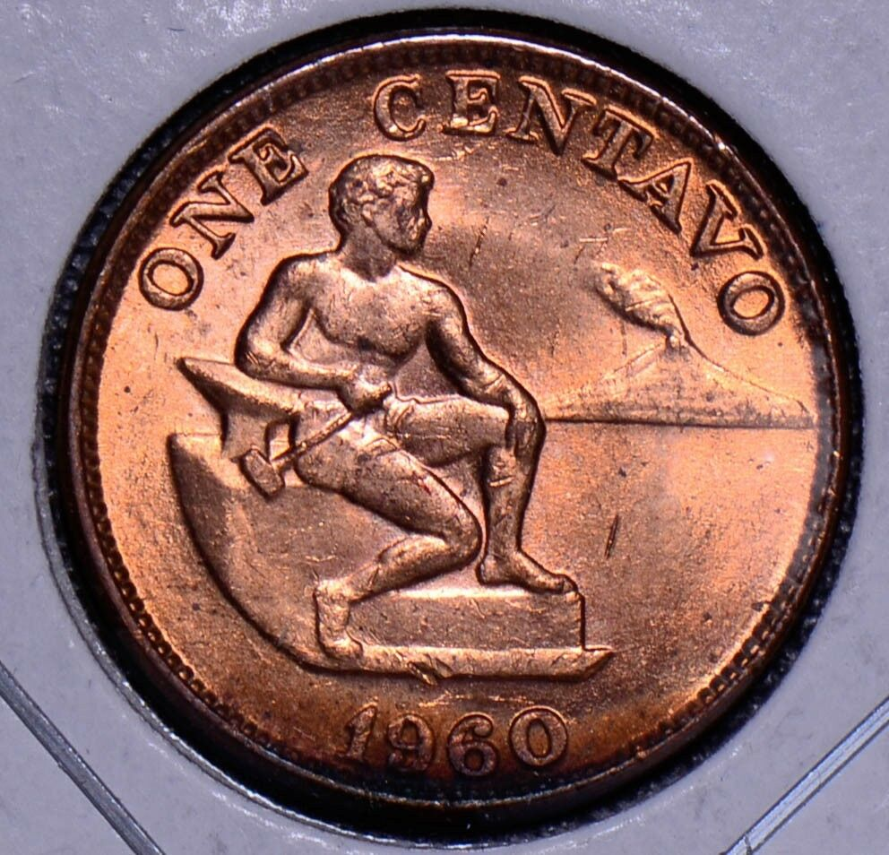 Philippines 1960  Centavo  gem BU red P0043 combine shipping