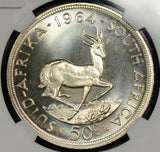 NG0292 South Africa 1964  50 Cents NGC PF 66 proof rare in this grade combine sh