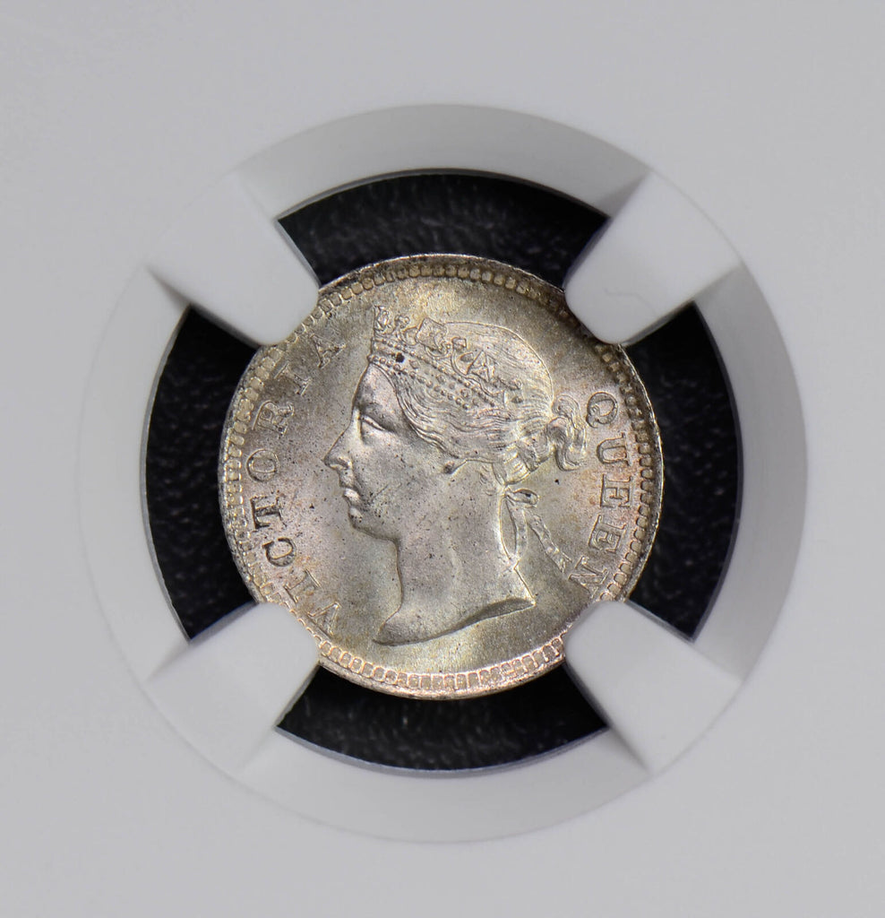 Hong Kong 1899 5 Cents woman silver NGC MS65 rare in this grade NG0441 combine s