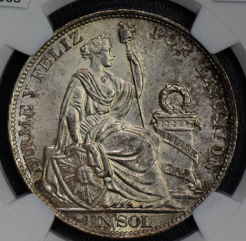 Peru 1915 FG Sol woman silver lima animal NGC MS 63 NG0330 combine shipping