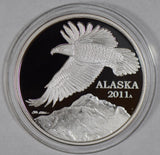 2011 Alaska Proof Medal silver with box BU0402 combine shipping