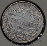 South Africa 1894 Shilling silver  190340 combine shipping