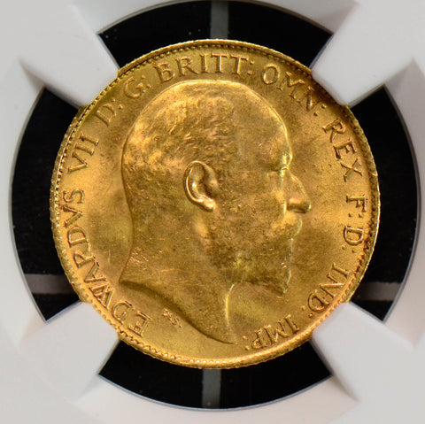 NG0604 Great Britain 1902 1/2 half sovereign gold NGC MS63 combine shipping