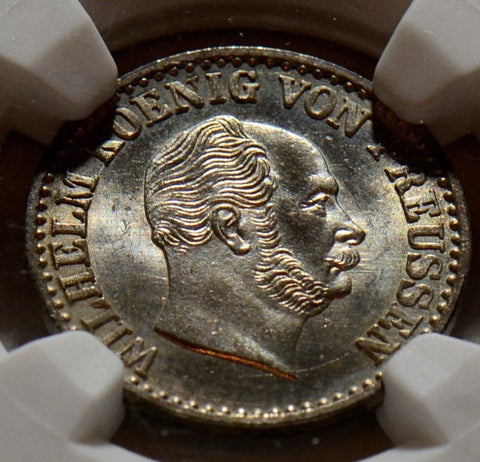 1869C Germany Prussia 1 Groschen NGC MS 64 NG0032 combine shipping