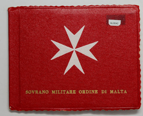 Order of Malta 1967 Proof Set mintage 1000, with 2 rare gold pieces GL0042 combi