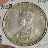 British India 1912 B Rupee silver  I0455 combine shipping