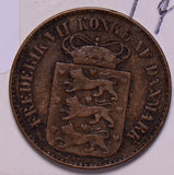 D0040 Danish West Indies 1859  Cent combine shipping