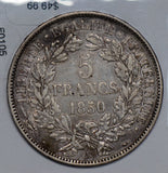 France 1850 5 Francs silver  F0105 combine shipping