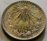 Mexico  1924 Peso  Eagle M0019 combine shipping