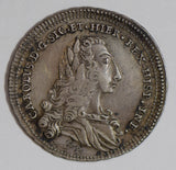 Italy 1735 4 Tari silver 1 year only rare in this grade I0313 combine shipping