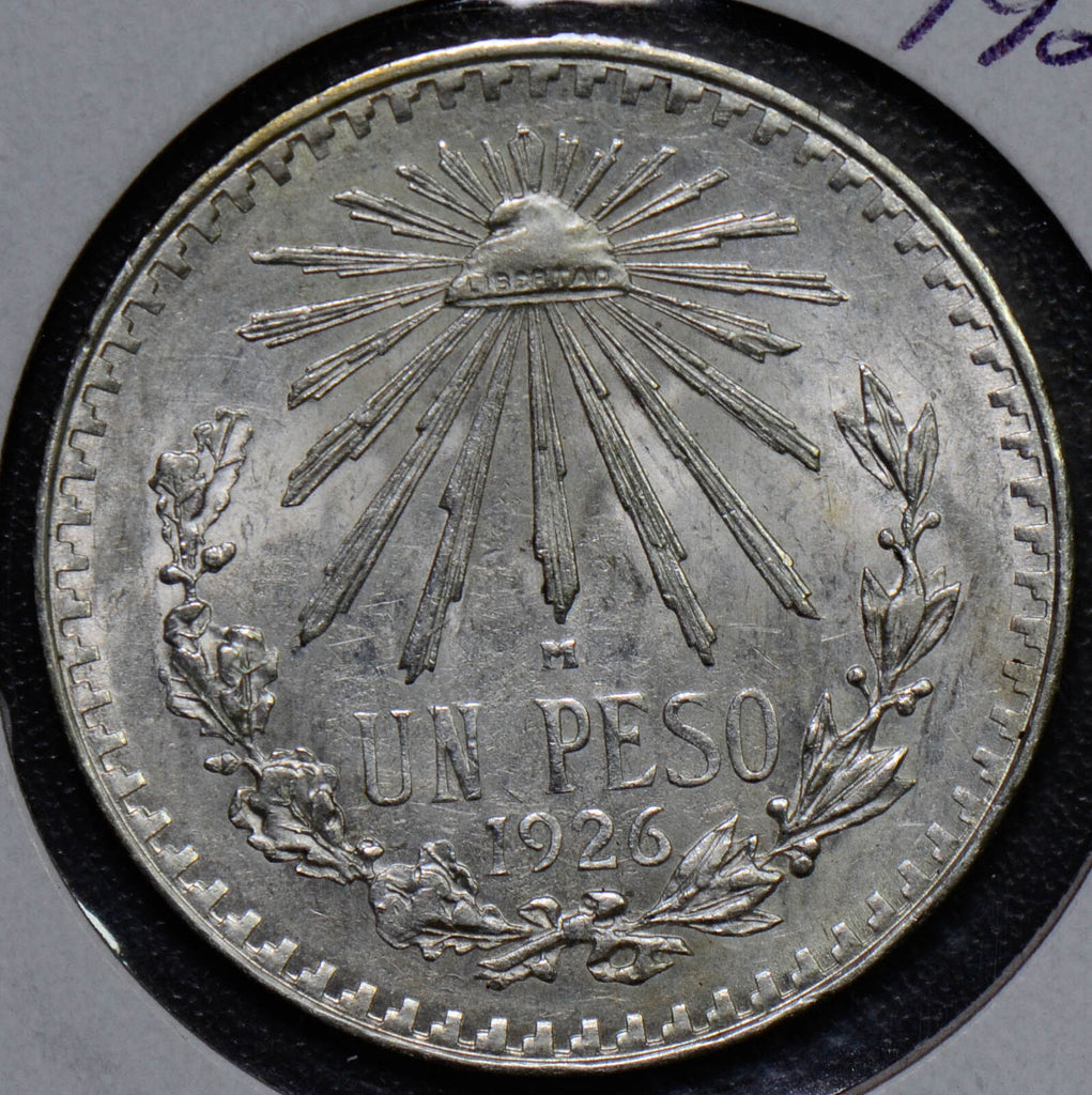 Mexico 1926  Peso   BU with luster  M0114 combine shipping