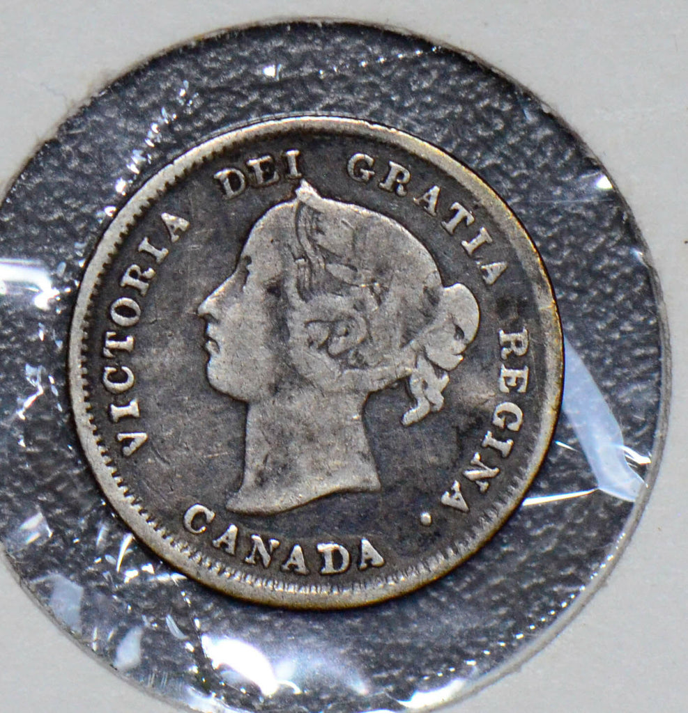 Canada 1890 5 Cents silver  190317 combine shipping