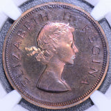 South Africa 1955  Penny NGC PF 65RB Proof nice toning! combine shipping NG0113