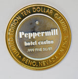 casino chip token silver peppermil nevada BU0333 combine shipping