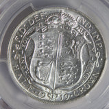 Great Britain 1919 1/2 Crown silver PCGS AU58 half PC0295 combine shipping