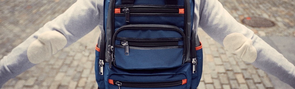 MONYKER navy ballistic nylon 2-bags-in-1 Monaco Backpack