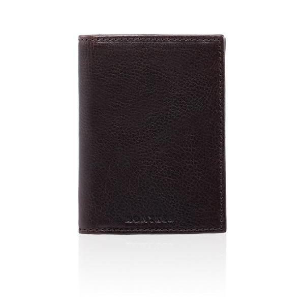 MONYKER Leather Business Card Case BROWN