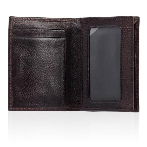 MONYKER Leather Business Card Case BROWN:  Interior