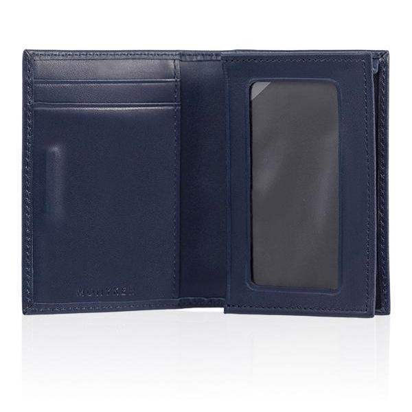 MONYKER Leather Business Card Case NAVY:  Interior
