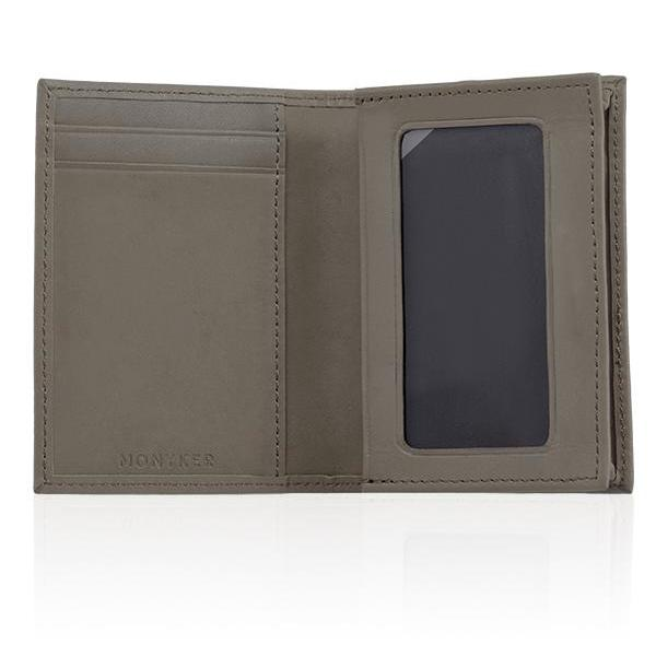 MONYKER Leather Business Card Case TAUPE:  Interior