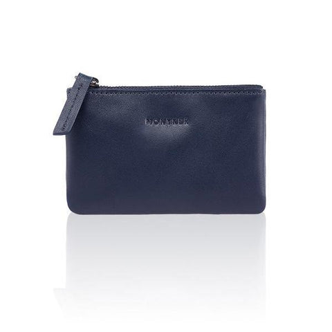 LEATHER PASSPORT SLEEVE - NAVY