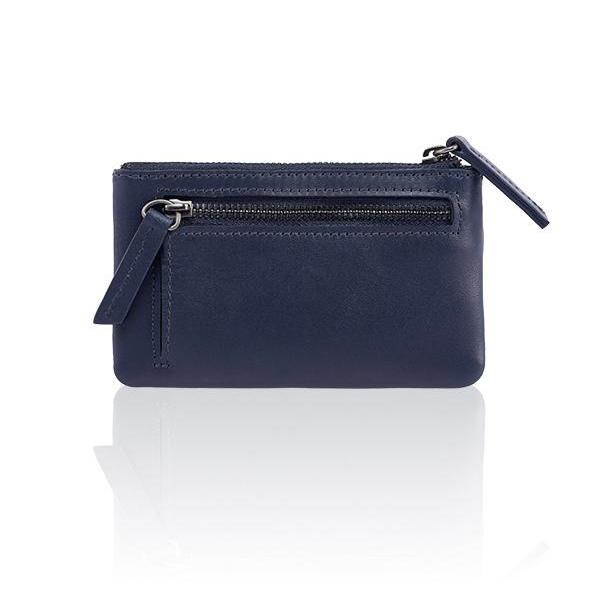 MONYKER Leather Zip Coin Pouch NAVY:  Back Pocket